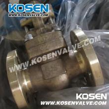 B148 C95800 Válvulas de puerta de acero forjado de bronce de aluminio