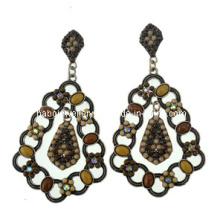 Pendiente de moda de piedra de resina de estilo de bohemia (xer13100)