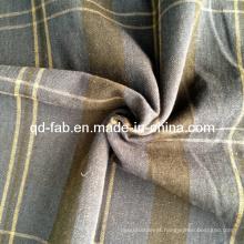 Linho / fio de algodão tecido tingido (QF13-0756)