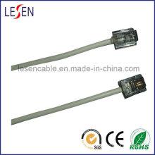 Cable telefónico redondo con enchufes 6p2c