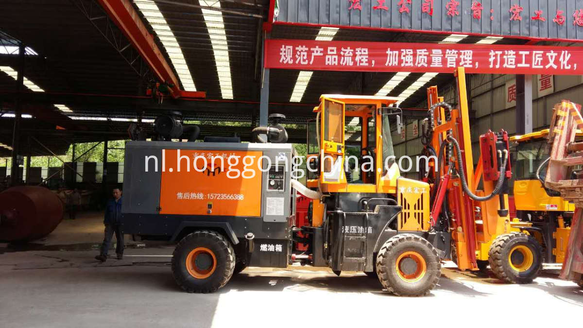 Portal Frame Screw Pile Machine