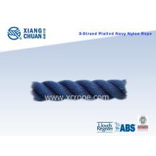 3 Strand Plaited Navy Nylon Rope