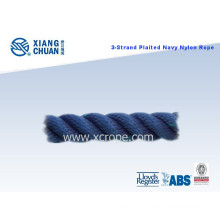 3 Strand Plaited Navy Nylon Rope