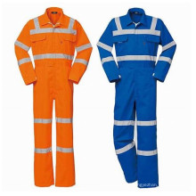 Reflective Safety Waterproof Coverall with Polyester Cotton Fabric