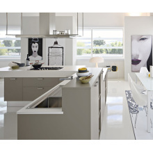 White MDF Modular Kitchen Cabinet