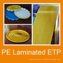 Placa de PVC de Matt luz de brilho laminado lata para pintura pode corpo e tampa