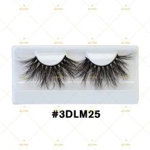 NO MOQ 3D DRAMATIC 25MM MINK LASHES 3DLM BIG LONG FUR EYELASHES WITH DIAMOND SHAPE MAGNETIC GIFT BOX