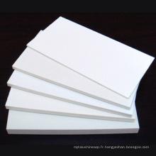 panneau rigide blanc de mousse de PVC de celuka et feuille de PVC pour le matériel de meubles d'armoire