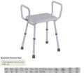 Aluminum Shower Chair with High Armrest