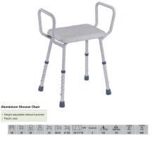 Silla de ducha de aluminio con alto respaldo