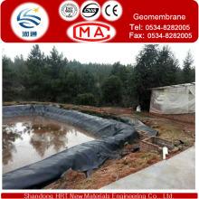Materiais de impermeabilização de edifícios Geomembrana de HDPE / HDPE Geomembrana de Lagoa / Geometria de HDPE, Pond Liner