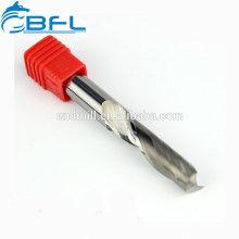 Fraise en bout en acrylique de coupe de flûte simple de BFL, fraise en bout de carbure de 1 flûte