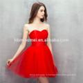 Реальные фото! Алина плеча твердые красного цвета короткие платья невесты