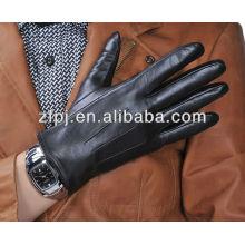 Mens stylish willkommen schwarz warme lederhandschuhe