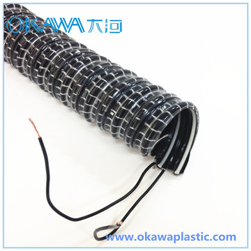 35mm PVC Vacuum Hose with 2 Electrical Cables
