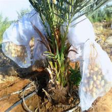 Дата UV белый мешок сетки с волшебная лента для пальмы