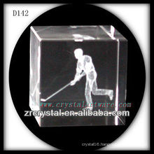 K9 3D Laser Engraved Sport Inside Crystal Cube