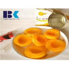 Nicht zu essen fettiger Dosen Gelber Pfirsich in Sirup