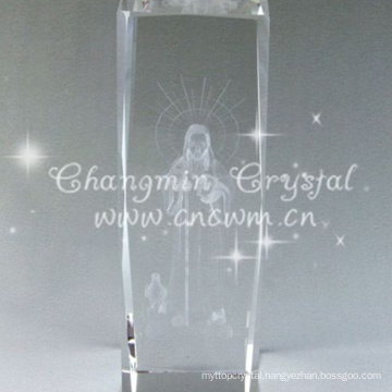 3d Laser Crystal Paperweight Engraving Block