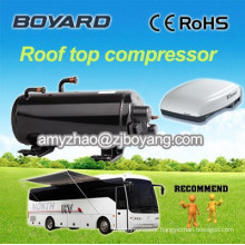 roof top mounted camping car air conditioner with horizontal R410a compressor