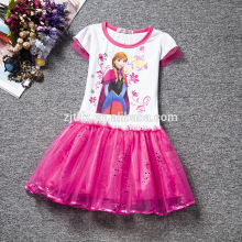 China wholesale New style Europe and America kid Frozen princess costume girl fashion party dress in cheap price