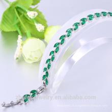 2018 le plus populaire bracelet de bijoux marquise forme vert zircon bracelet de mariage