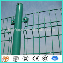 Clôture de treillis en acier enduit de puissance verte