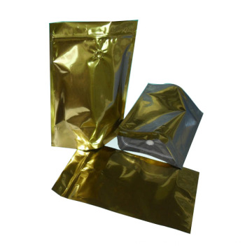 Aluminum Coffee Bag with Flat Bottom and Valve/Coffee Plastic Bag