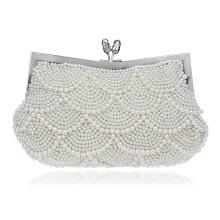 White Pearl Women's Evening Dinner Clutch Bag Bride Bag For Wedding Evening Party Bridal HandBags B00103 goodies bag for wedding