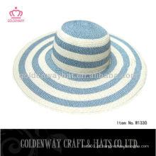 2015 fornecedor Novo design Chapéu de palha de papel feminino