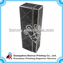 Schwarze Papierverpackungs-Kästen mit Prägungsoberfläche