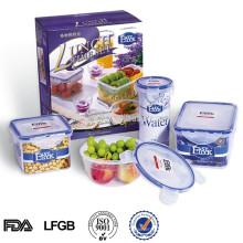 conjunto de recipiente de comida de plástico