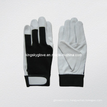 Goat Skin Leather Mechanic Work Glove (7145)