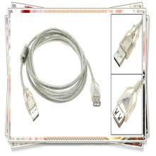 Cable de extensión del USB 2.0 de la alta calidad 5m 16ft USB am a af cable blanco transparente