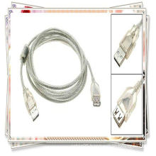 high quality 5m 16ft USB 2.0 Extension cable USB am to af cable transparent white