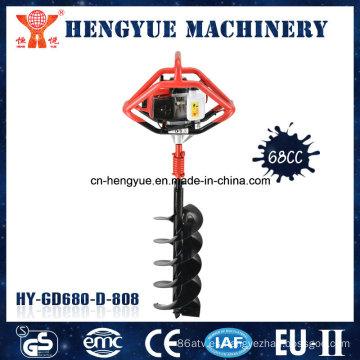 Perforadora de gasolina para perforación de tierra Perforadora de tierra de 68 cc