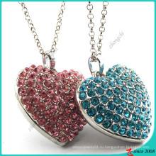 Большое кристаллическое ожерелье сердца для украшения ткани (FN16041805)