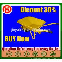 WB6400 venta caliente carretilla grande de China carretilla proveedor jardín carretilla grande de uso