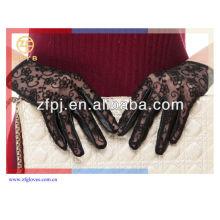 Mode Dame Black Lace Leder Handschuh