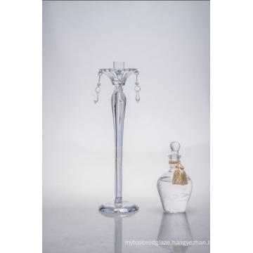 Clear Glass Candle Holder for Wedding Decoration with Single Poster