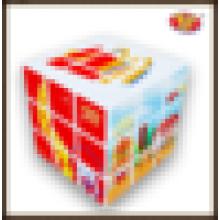 Venta caliente de YongJun personalizó los juguetes educativos promocionales de encargo que hacían publicidad del cubo mágico