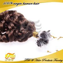 Chaude Loose Bouclés Remy Extensions de Cheveux Humains Facile Boucle Micro Anneaux Tipped Extensions de Cheveux