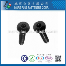 Feito em Taiwan T10 Black Torx Drive Pan Head M3x10 Parafuso de segurança