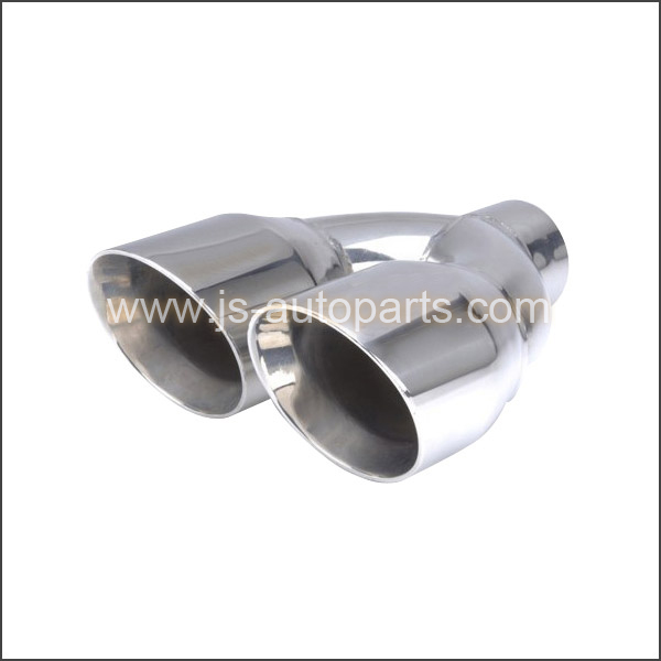 STAINLESS STEEL CONE TWIN SLANT CUT  TAIL PIPE TRIM TIP