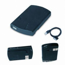 1200 Mah Black Portable Solar Powered Backup Ipad External  Li-ion Battery Pack Charger