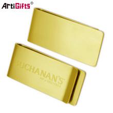 Promotion metal golden money clip