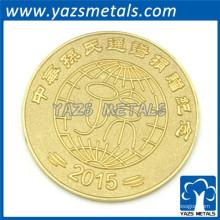 ouro chapeado personalizado moeda metal barato challeage moeda fábrica