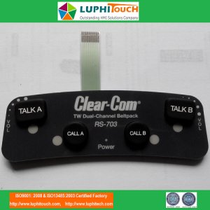 Intercom Handheld Device Rubber Keypad Switch
