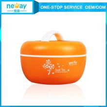 Apple Shaped Orange Flower Plastic Sealing Plastic Food Container