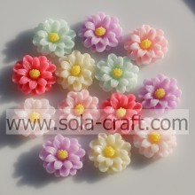 Lovely 14MM Resin Solid Color Flower Beads